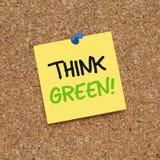 绿色认为 库存照片