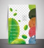 绿色设计企业公司印刷品模板 免版税库存照片