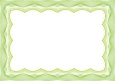 绿色证明或文凭模板框架-边界 向量例证