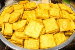 黄色豆腐 免版税库存照片