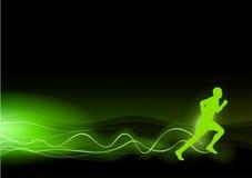绿色赛跑者 免版税库存照片