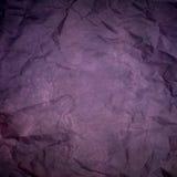 紫色起皱纹的纸纹理或背景 库存图片