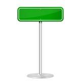 绿色路标 皇族释放例证