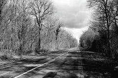 黑色路白色 库存照片