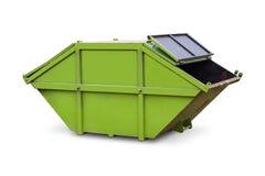 绿色跳或大型垃圾桶 免版税库存图片