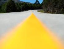 黄色车道线运输路背景 库存图片