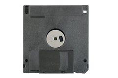 黑色软盘在白色背景 免版税库存照片