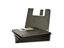 黑色软盘在白色 免版税库存照片