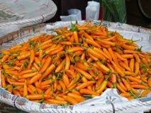 黄色辣椒在曼谷,泰国 免版税库存照片