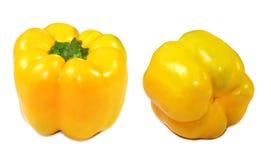 黄色辣椒的果实 库存图片