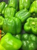 绿色辣椒的果实 免版税图库摄影