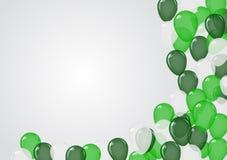 绿色迅速增加背景 皇族释放例证