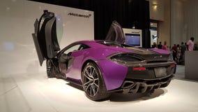 紫色迈凯轮 免版税图库摄影