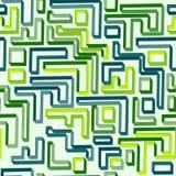 绿色迷宫的无缝的样式 免版税库存照片