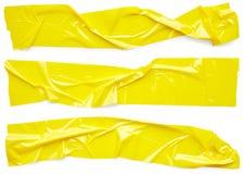 黄色透明胶带 免版税图库摄影