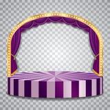 紫色透明elipse 皇族释放例证