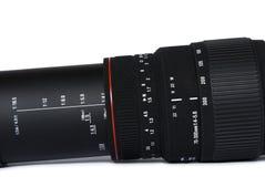 黑色透镜远距照相 库存图片