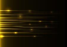 黄色速度激光 库存图片