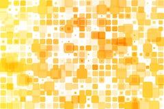 黄色遮蔽在白色的偶尔的不透明马赛克 皇族释放例证