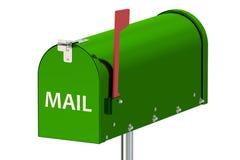 绿色邮箱 图库摄影