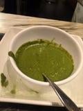 绿色酸辣调味品 免版税库存照片
