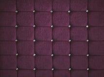紫色金刚石散布的被填塞的织品背景 图库摄影