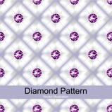 紫色金刚石样式传染媒介 图库摄影