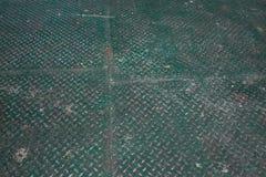 绿色金刚石金属地板,抽象工业背景 免版税库存图片