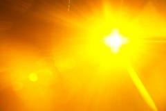 黄色金黄梯度光背景 免版税库存图片