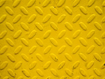 黄色钢背景 库存照片