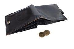 黑色钱包 免版税库存照片