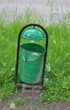 绿色铁缸 免版税图库摄影