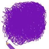 紫色铅笔 免版税库存照片