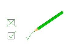 绿色铅笔 库存图片