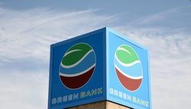 绿色银行 免版税库存图片