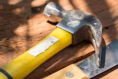 黄色锤子 库存图片