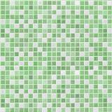 绿色锦砖墙壁 图库摄影