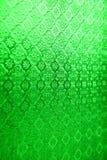 绿色镜子玻璃窗泰国样式背景纹理 免版税库存图片