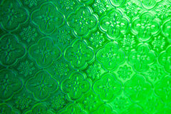 绿色镜子玻璃窗泰国样式背景纹理 库存照片