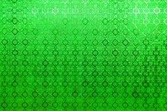 绿色镜子玻璃窗泰国样式背景纹理 免版税库存照片