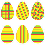 黄色镶边鸡蛋 库存照片