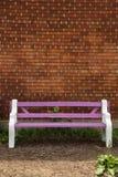 紫色长凳 免版税库存图片