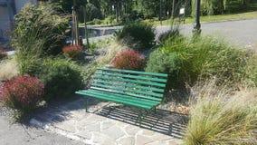 绿色长凳 库存图片
