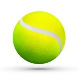 黄绿色长毛的网球回报 免版税库存图片