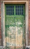 绿色门 免版税图库摄影