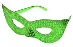 绿色闪烁眼睛玻璃 免版税库存图片