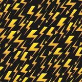 黄色闪电黑传染媒介无缝的样式 向量例证