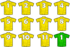 黄色队衬衣 库存照片