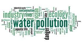 绿色附注污染水 免版税库存照片