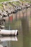 绿色附注污染水 库存照片